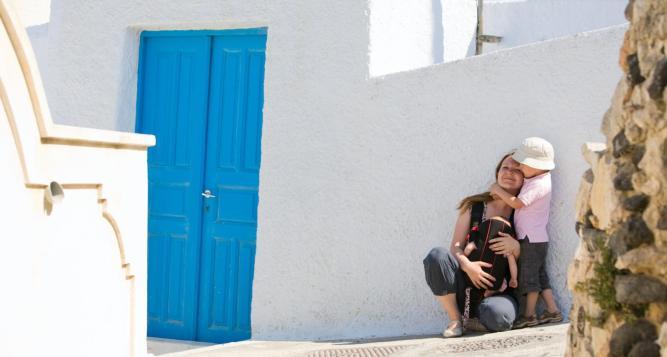 Santorini for kids