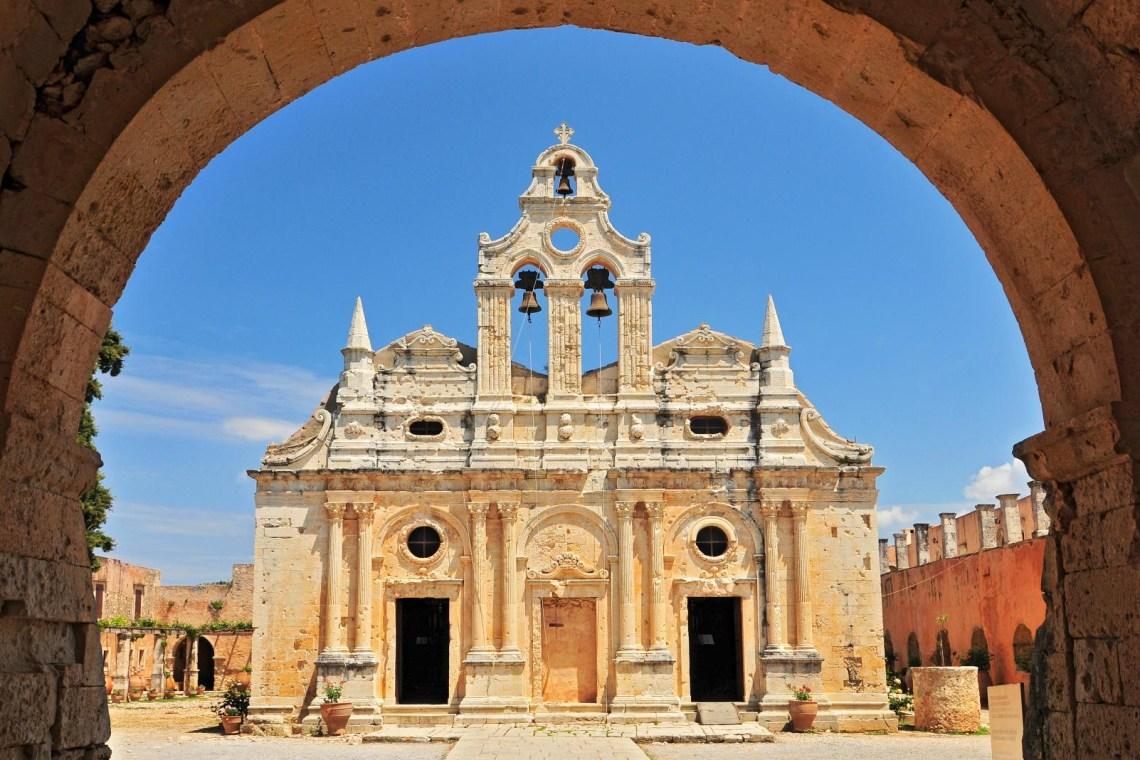 Arkadi monastery church front