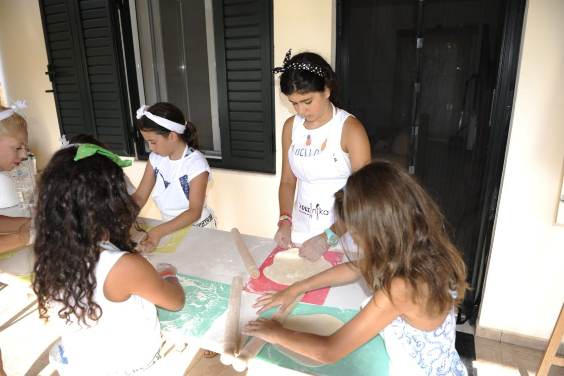 Cretan cuisine cooking class family activities Crete kids love Greece