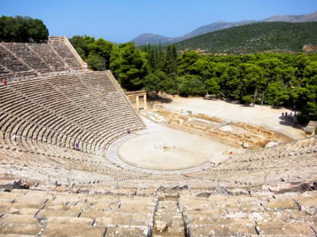 Beautyful ancient Theater in Epidavros, Greece