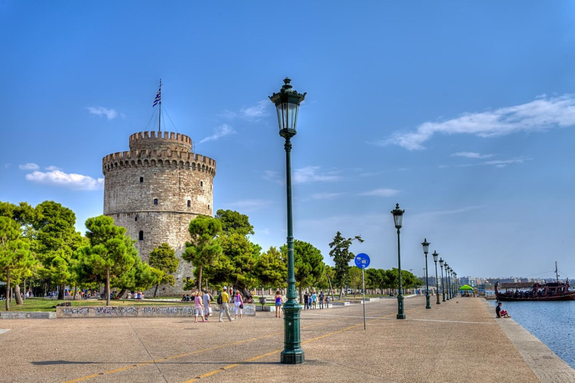 pier of Thessaloniki infront of White tower