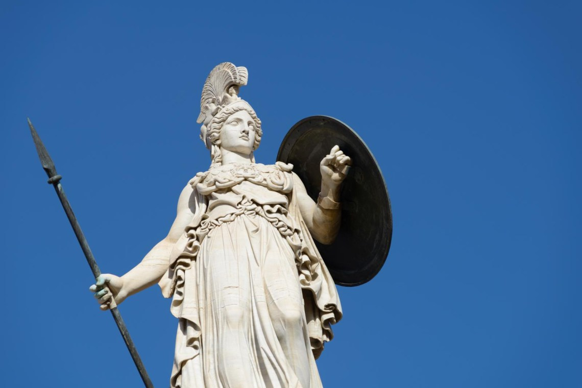 Athena statue KidsLoveGreece.com Athens mythology tours