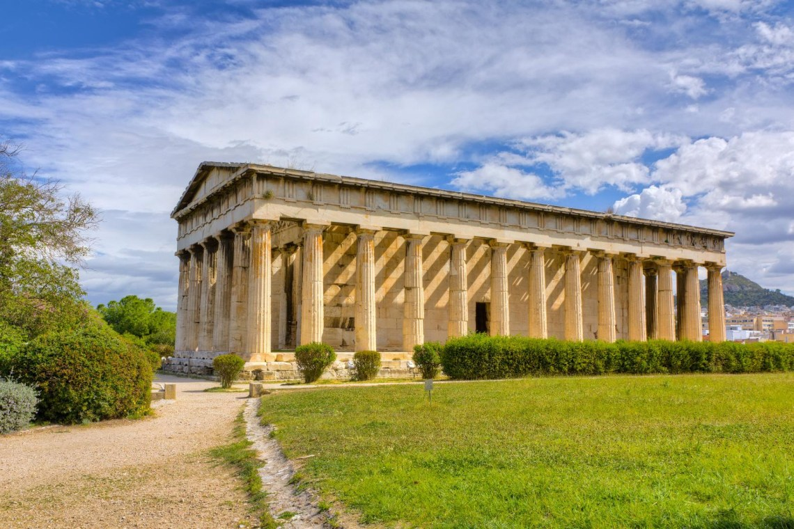 Hephaestus temple Mythology Tour in Athens for families