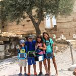Acropolis Parthenon kids with tablets 3d virtual reality KidsLoveGreece.com