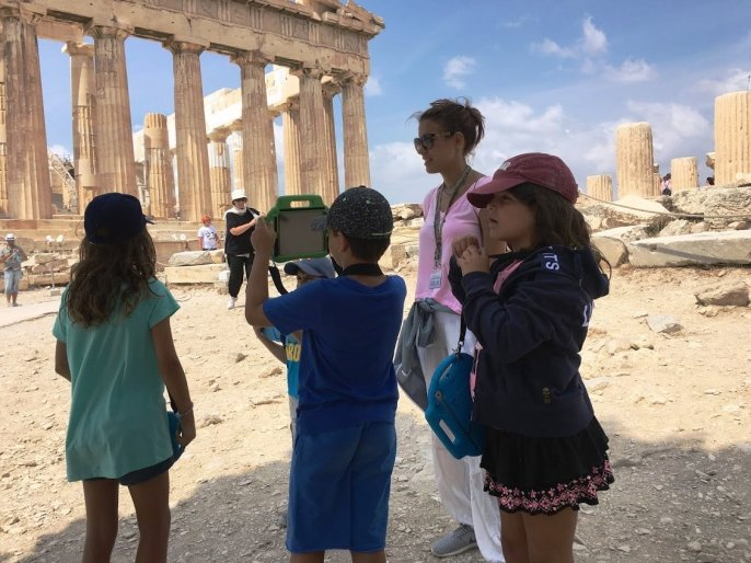 Acropolis tablets Percy Jackson Mythology Family Trip 7-day Package family guided tour kids love greece Athens