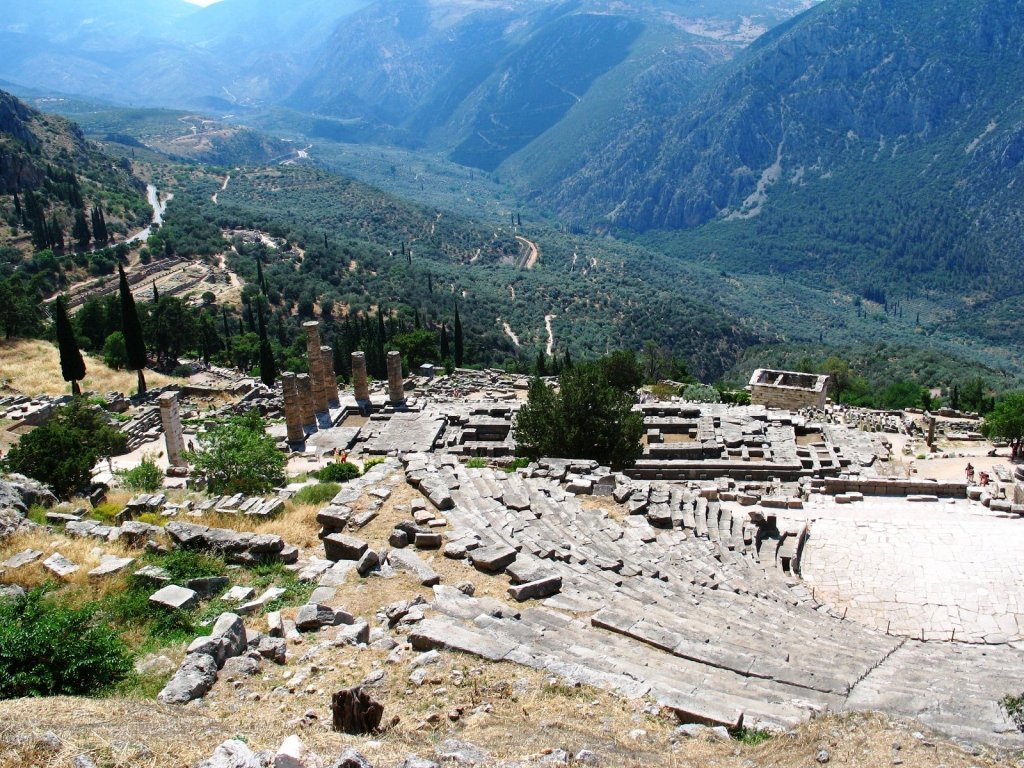 Delphi archaeological site kids love greece activities for families Percy Jackson Mythology Family Trip 7-day Package