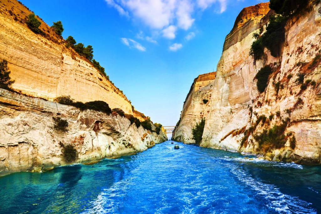 Corinth canal family guided tour kids love greece Peloponnese Percy Jackson Mythology Family Trip 7-day Package activities for families