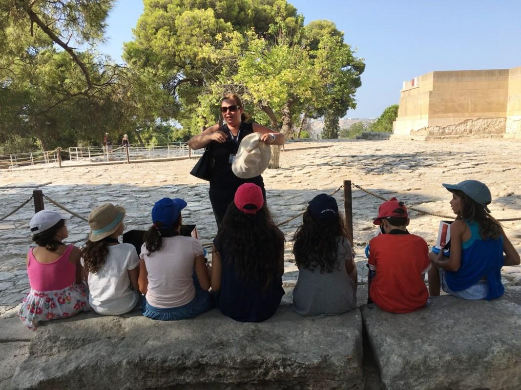 Knossos private family guided tour kids love greece Crete Percy Jackson