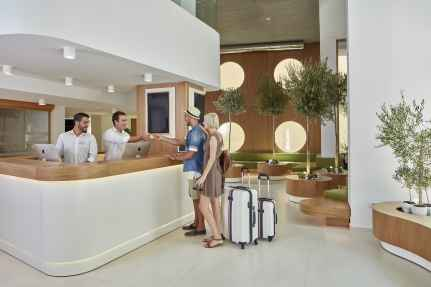 Olive Green Boutique Hotel Heraklion Crete Greece kidslovegreece central new modern ecofiendly smart technology 626 all day cafe restaurant lounge bar family connecting rooms