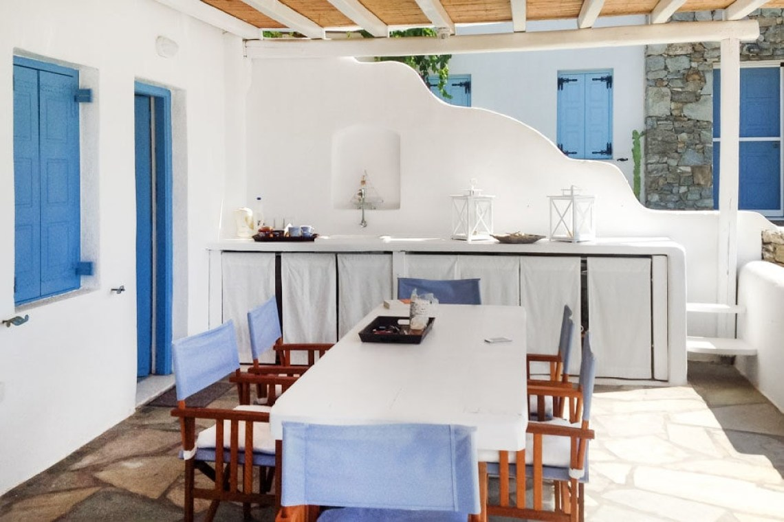 kids love greece accommodation for families cyclades cosy family vacation maisonette in Kalafatis Mykonos island