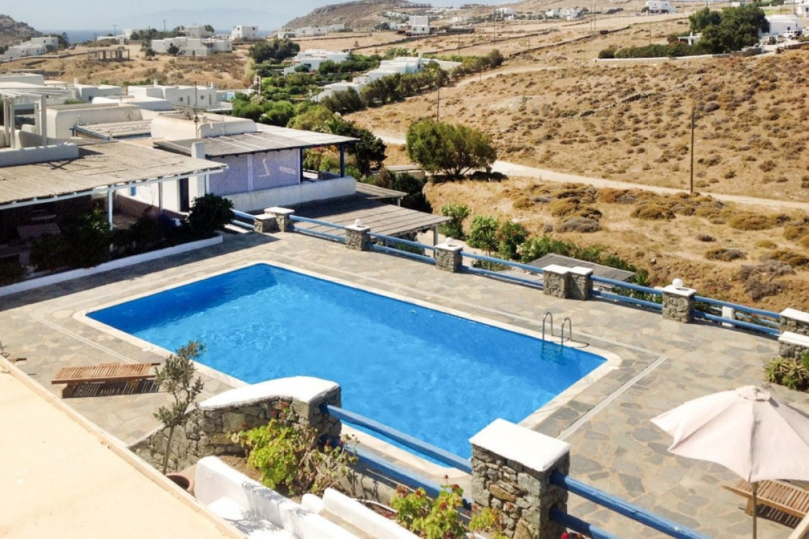 kids love greece accommodation for families cosy family vacation maisonette in Kalafatis Mykonos island cyclades
