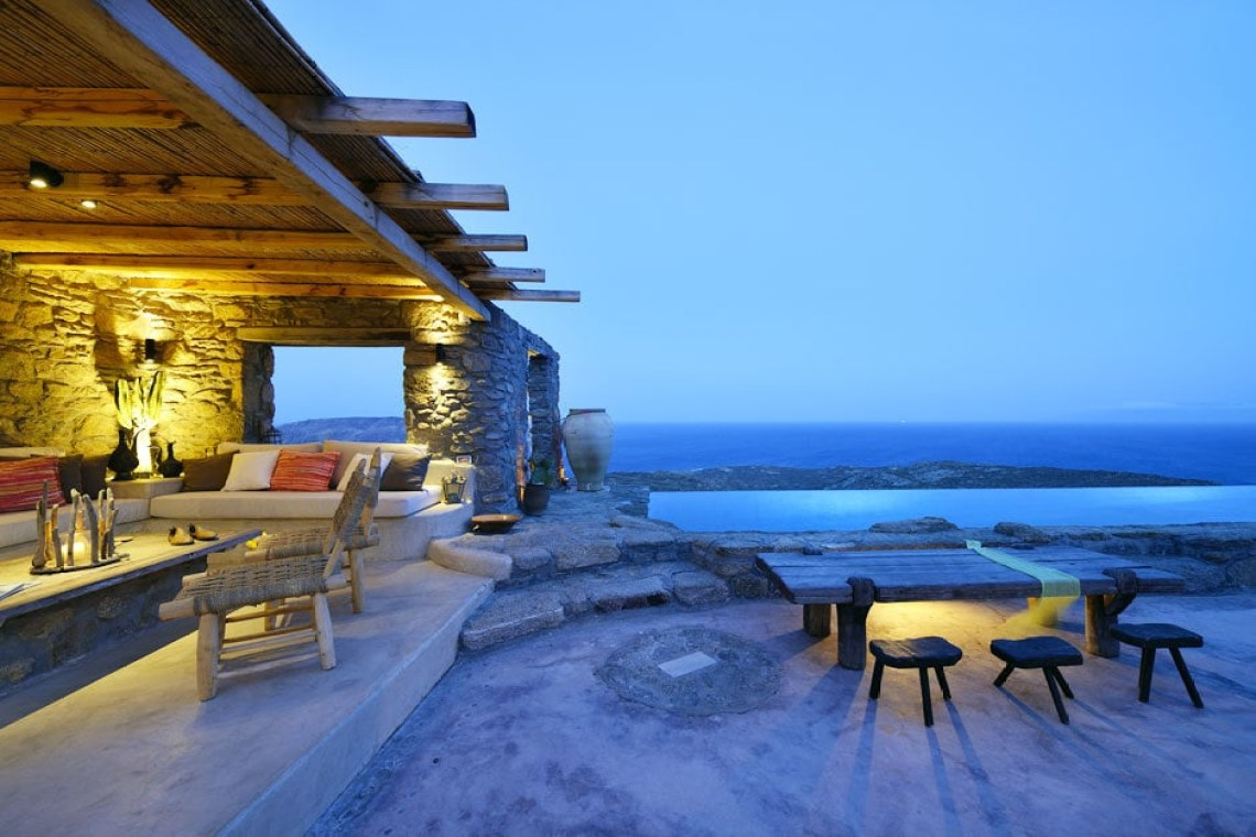 kids love greece the Drakothea family residence in Myconos island cyclades accommodation for families luxury villa