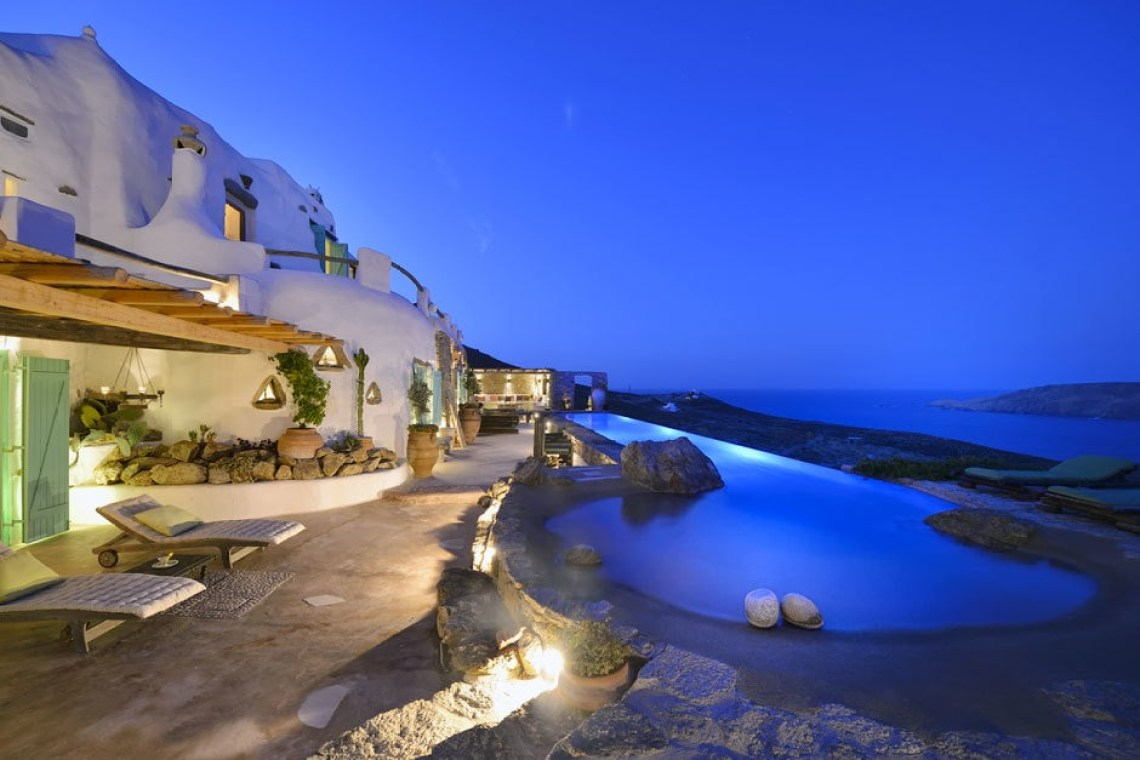 accommodation for families kids love greece the Drakothea family residence in Myconos island luxury villa cyclades