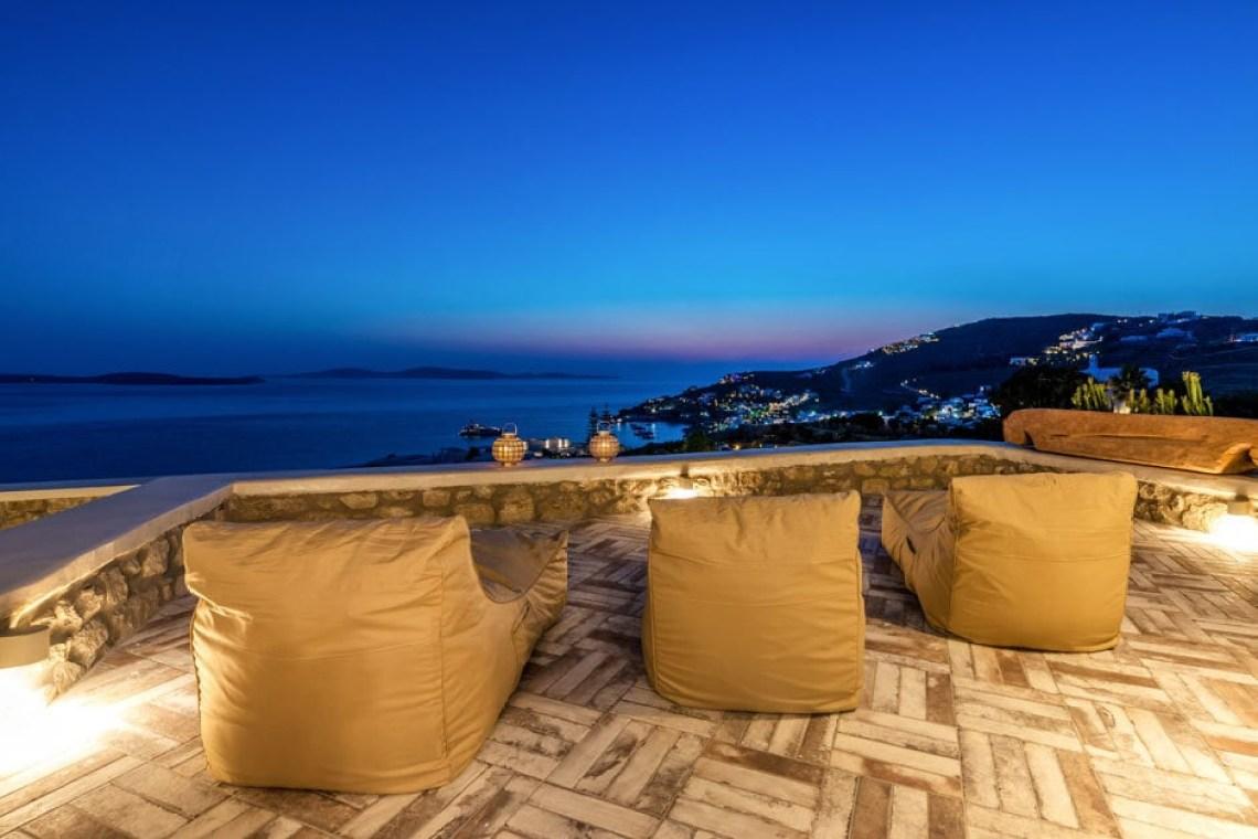luxury bohemian family villa in Mykonos island Agios Ioannis beach the Ioannou residence kids love greece Cyclades accommodation for families
