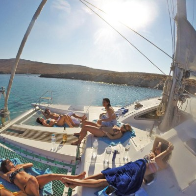 Catamaran Family Sailing Trip from Mykonos