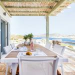 Cyclades spacious family vacation villa in Mykonos island accommodation for families Sophia residence Ornos bay kids love greece