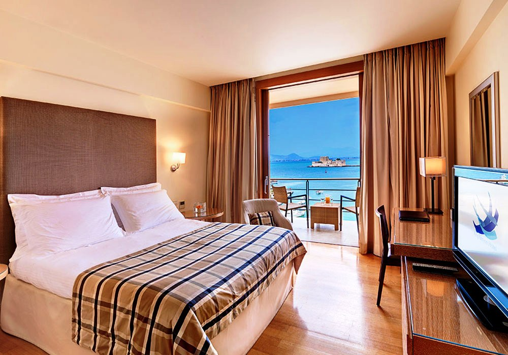 Amphitryon hotel Nafplio family friendly accommodation Peloponnese kids love greece