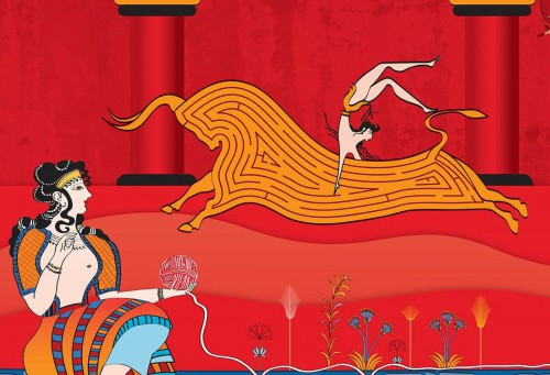 Minoan themed Coke Campaign features Crete!
