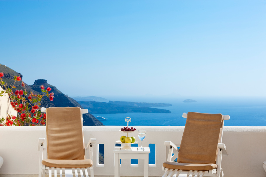 SantoriniPrincessSpa luxury accommodation Cyclades island greece kidslovegreece sunset imerovigli Santorini family holidays