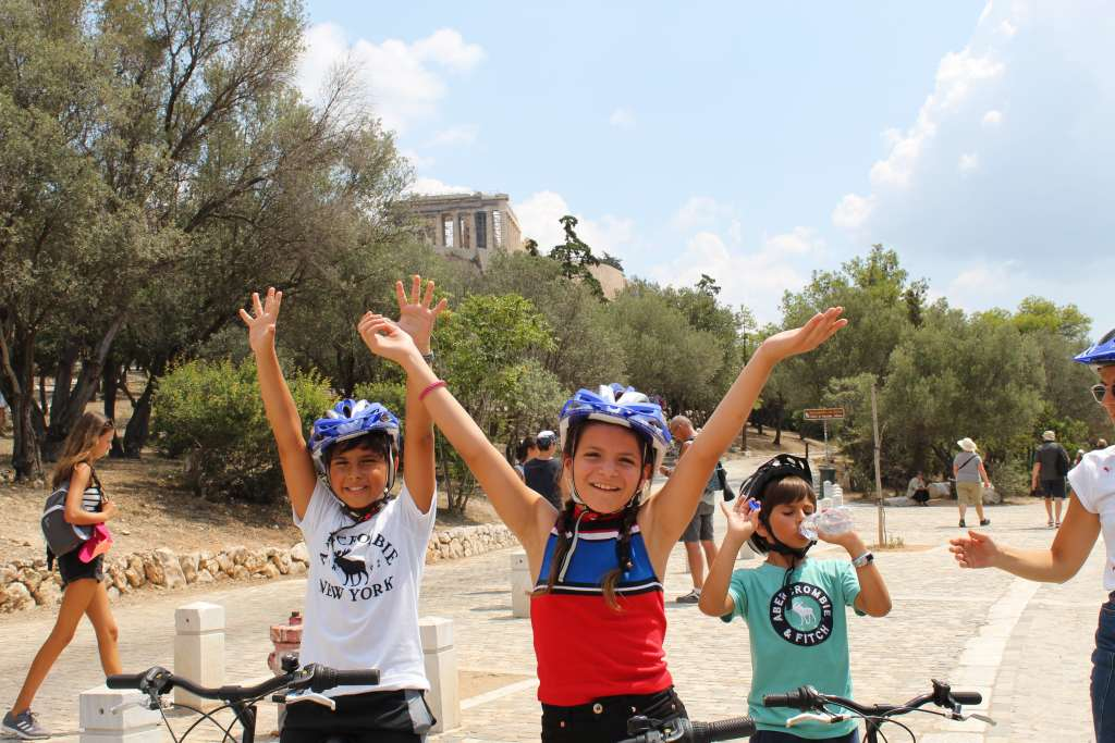 Kids biking tour in Athens