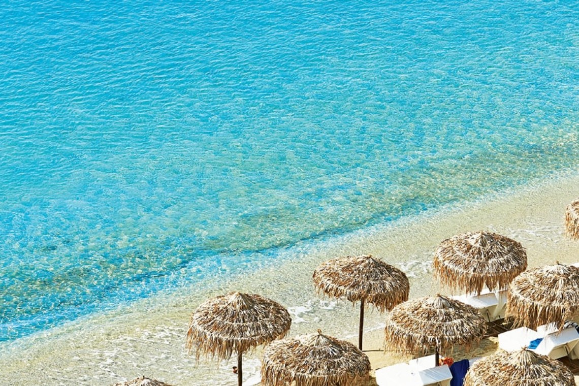The Mykonos Blu Grecotel Exclusive Resort Hotel kidslovegreece best accommodation luxury high standards Cyclades Greece families Psarou private beach greek islands