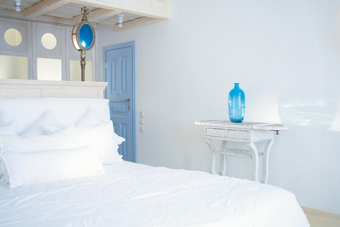 The Mykonos Blu Grecotel Exclusive Resort Hotel best accommodation luxury high standards Cyclades Psarou Greece families kidslovegreece private beach greek islands