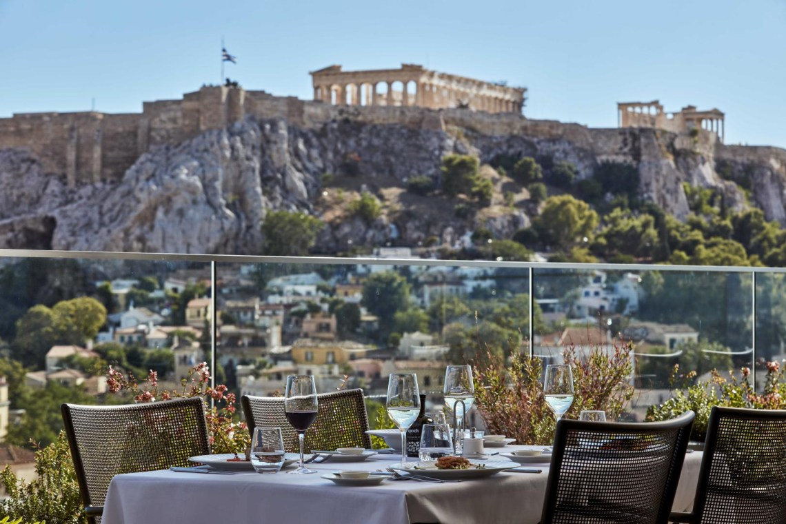 The new Electra Metropolis Athens Acropolis view kidslovegreece Syntagma Square Greece families luxury accommodation kids