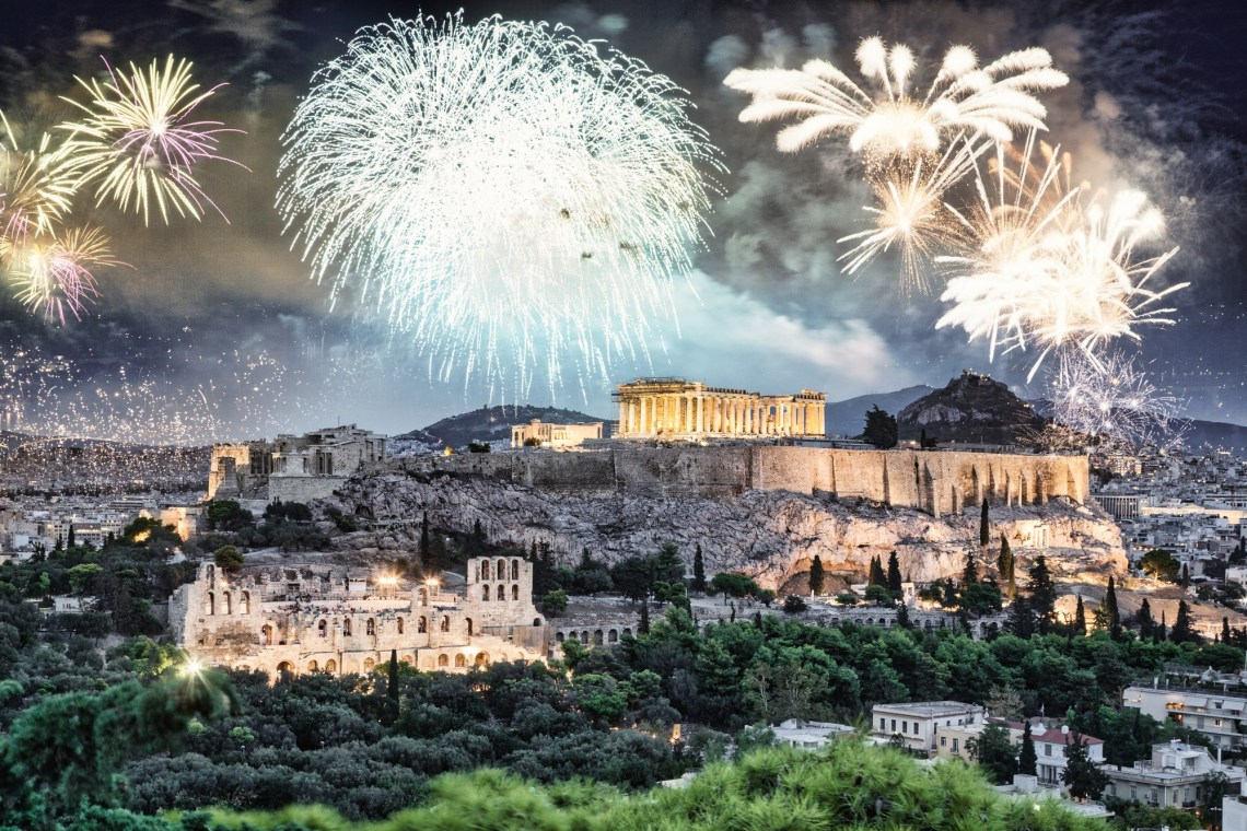 athens celebrations fireworks Protoxronia DP
