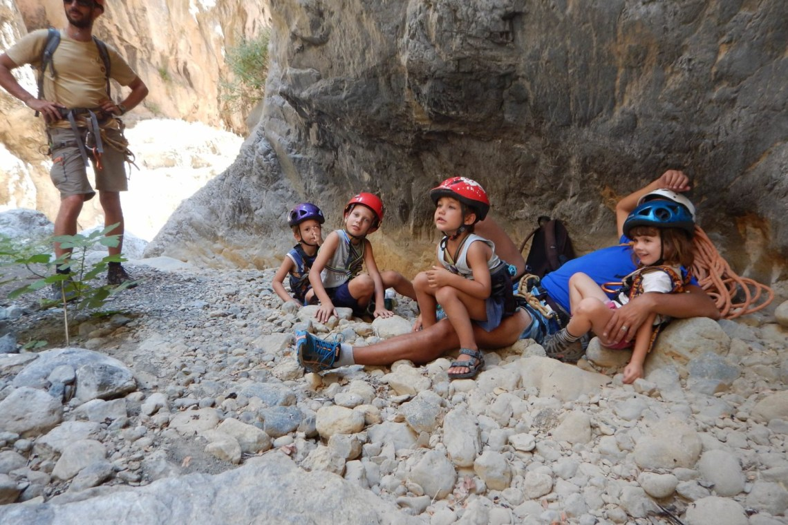 canyoning family adventure outdoor activities crete kids love greece