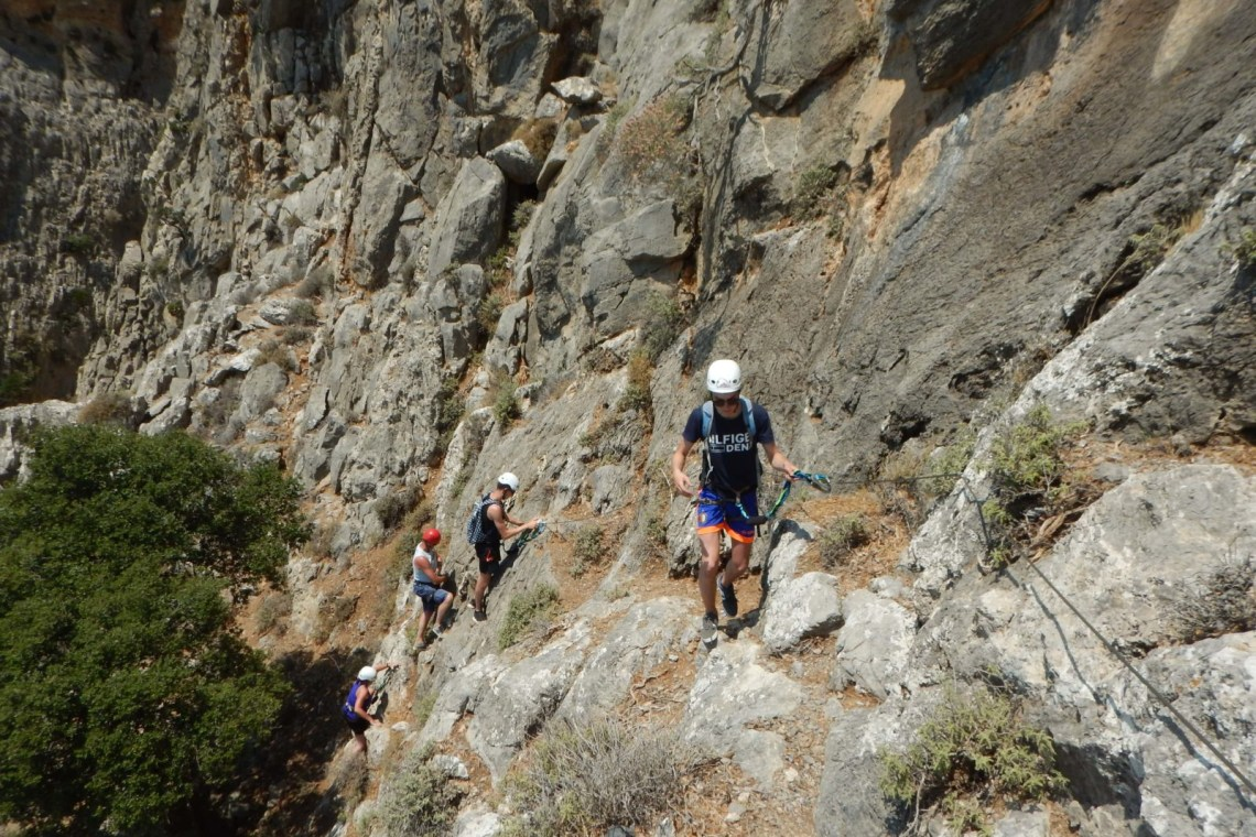 outdoor activities via ferrata for families kids love greece crete