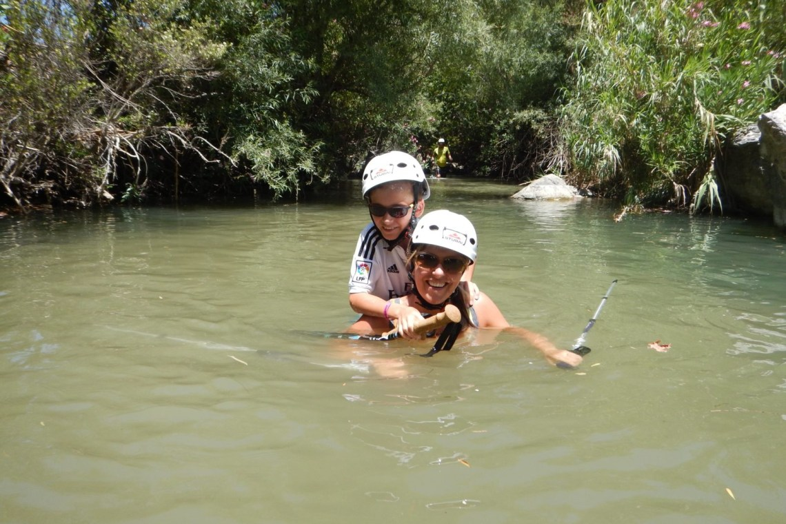 river trekking outdoor family adventure activities kids love greece Rethymno Crete
