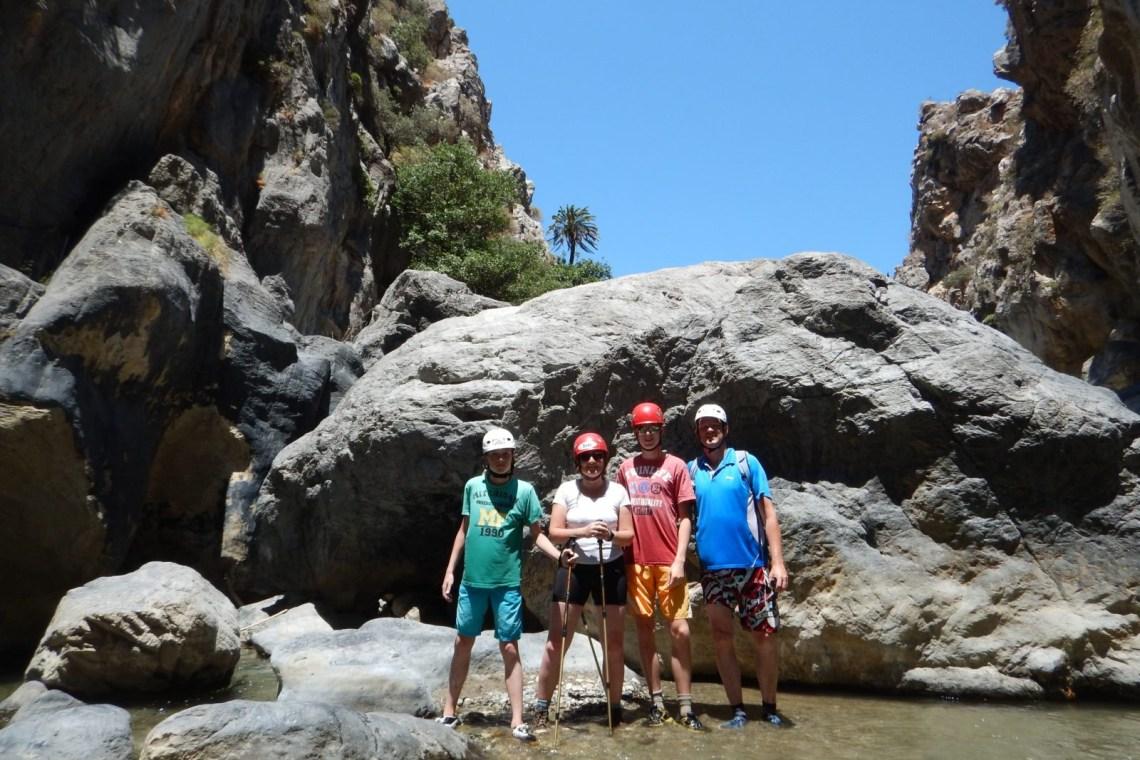 river trekking outdoor family adventure Rethymno Crete activities kids love greece