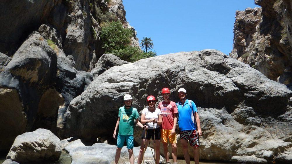 River Trekking Outdoor Family Adventure in Crete