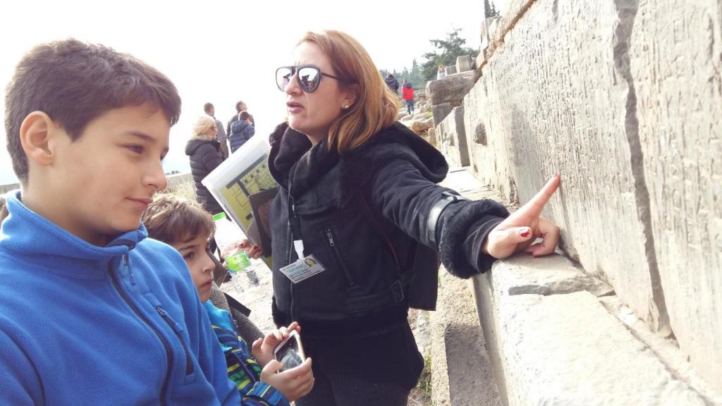 Guide at Delphi