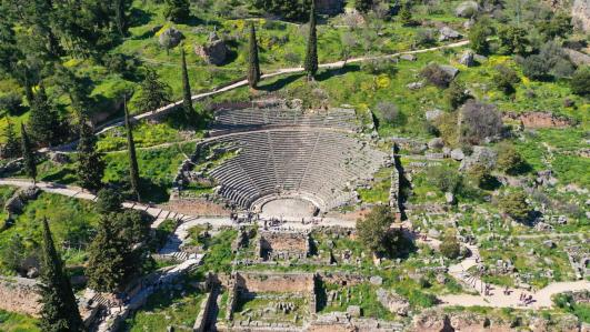Delphi archeological site theater
