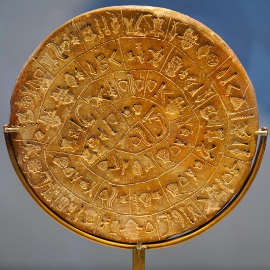disk of Phestos archeological museum of Heraklion
