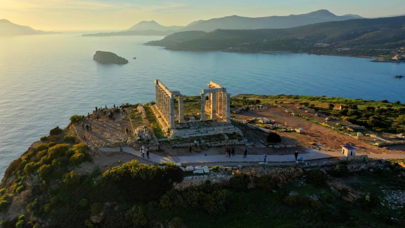 Visit the Temple of Poseidon with Kids