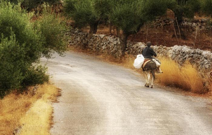 villager woman in greece