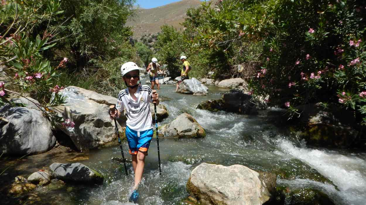 River trekking in Crete with Kids Love Greece