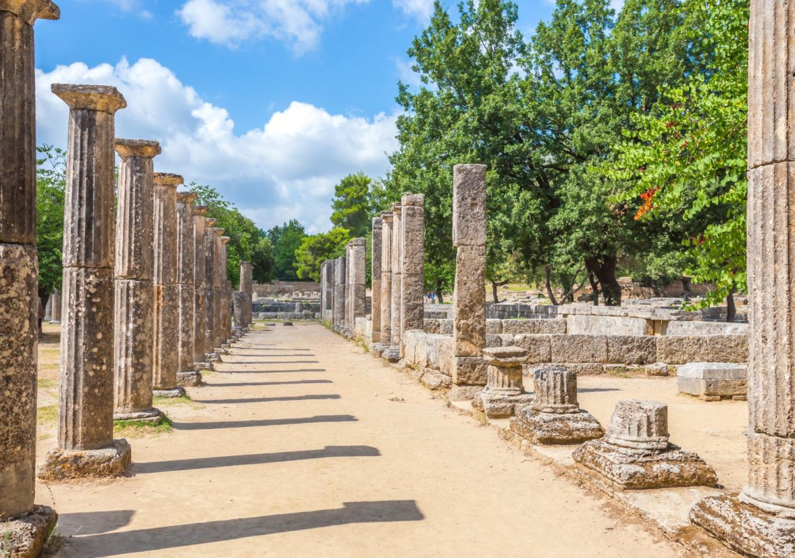 ancient Olympia ruins KidsLoveGreece.com
