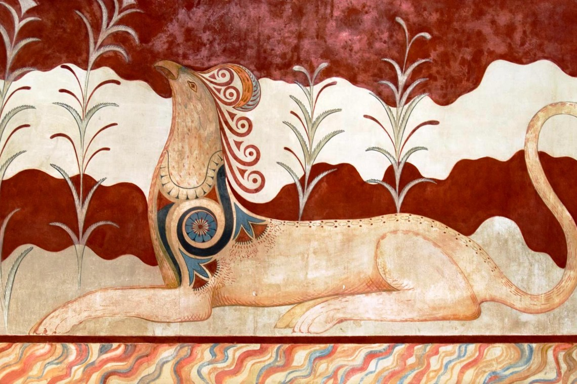 Knossos palace fresco guided family trip