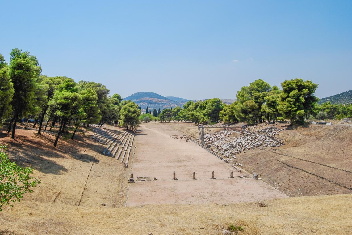 ancient stadium in Olympia KidsLoveGreece.com