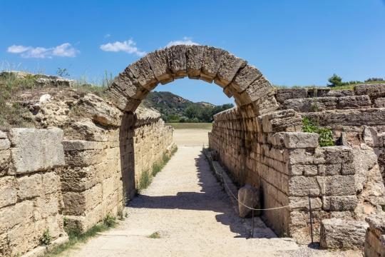 ancient Olympia staduyn entrance KidsLoveGreece.com