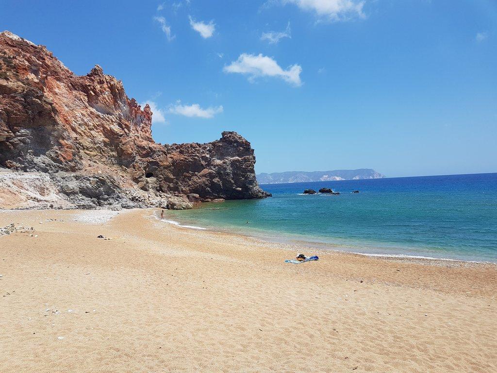 A beach on Milos