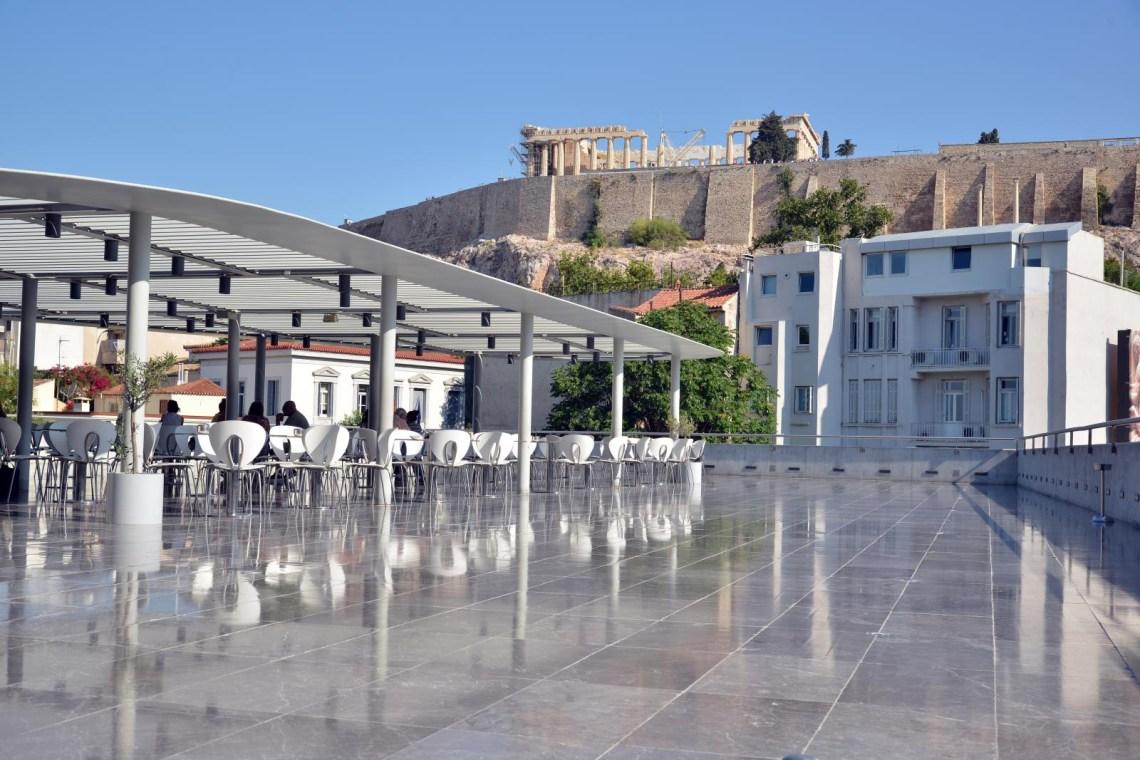 Acropolis museum terrace under Acropolis
