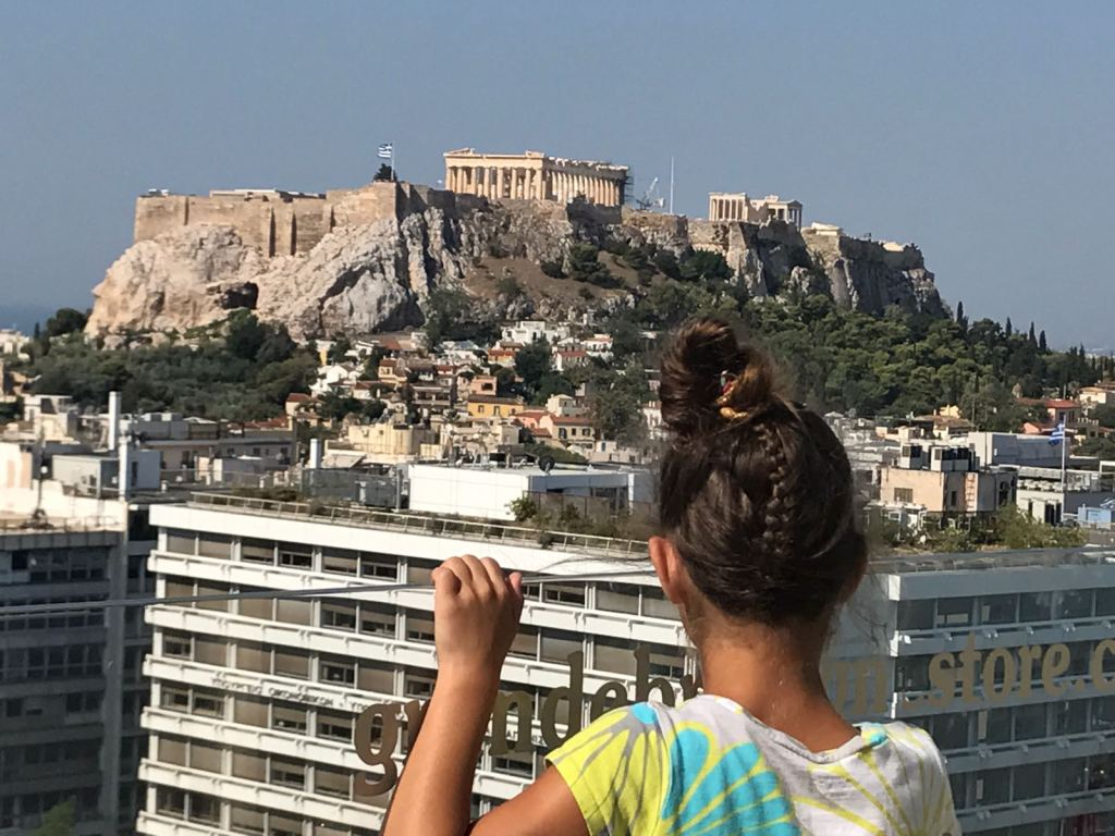 Acropolis Athens Kids best view