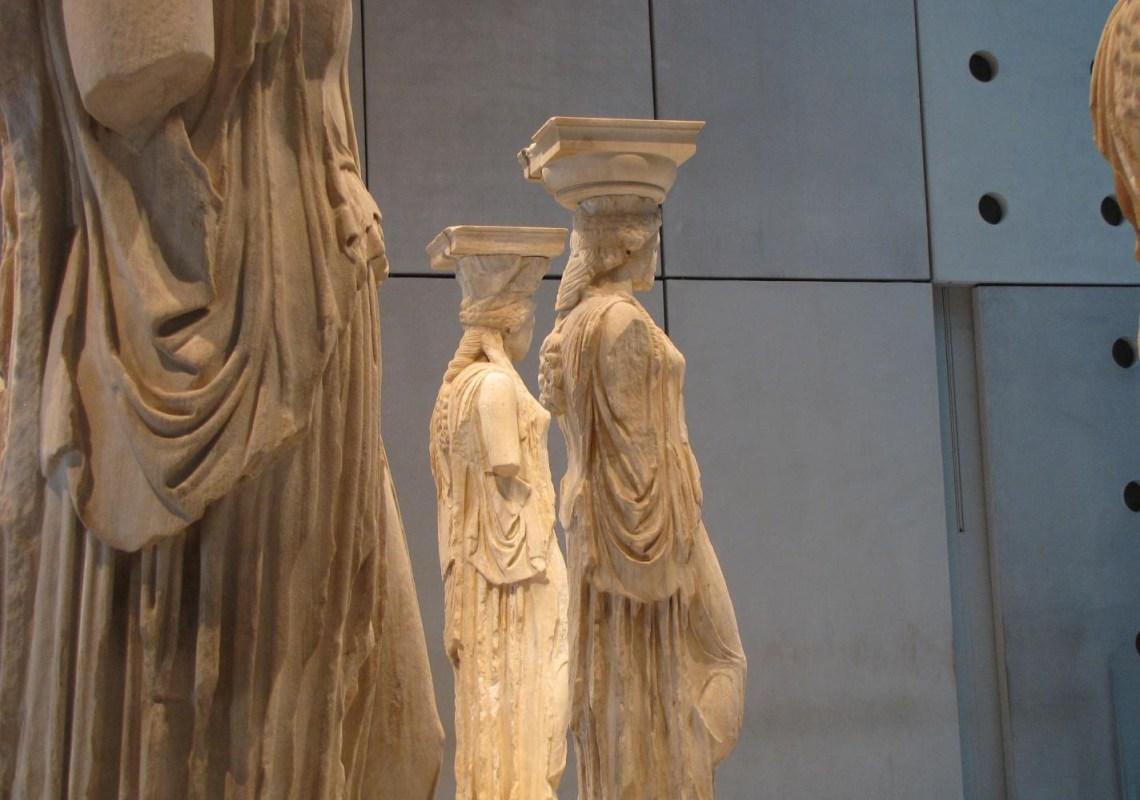 Karyatids statues in Acropolis museum Athens