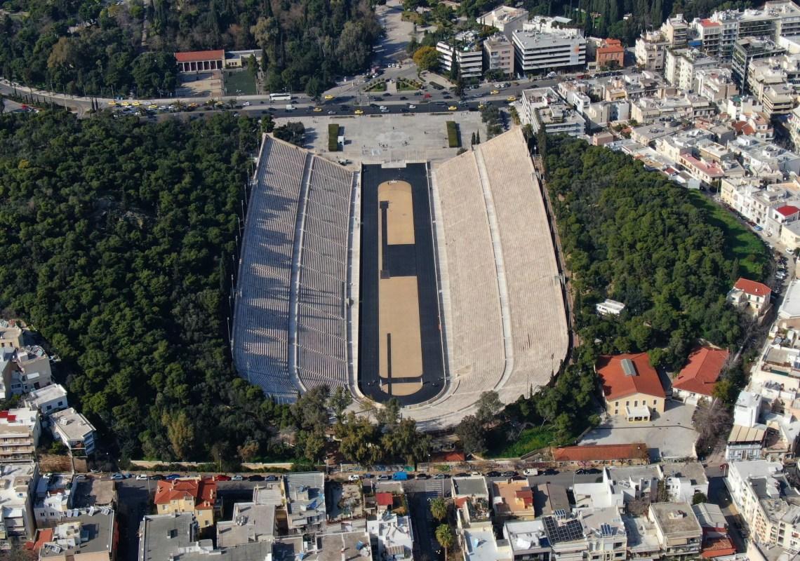 Ancient stadium Athens Marathon SH