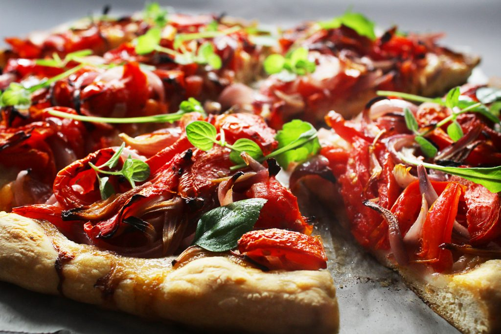 Greek Olive Oil Flabread Pizza Style