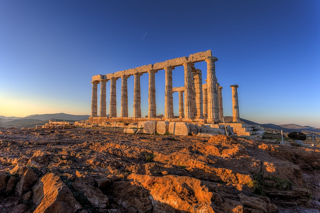Cape Sounion Temple of Poseidon Mythology Family